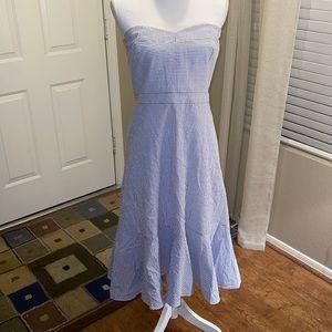 🌻 J. Crew Strapless Pinstripe Dress